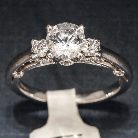 Verragio 18 White Gold Engagement Ring with  Diamonds - Style 0396