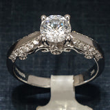 Verragio 18K White Gold Engagement Ring with Diamonds - Style 7038