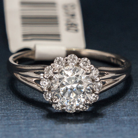 Verragio 18K White Gold Engagement Ring with Diamonds - Style 0356S