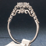 Verragio 18K White Gold Engagement Ring with Diamonds - Style 7033