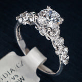 Verragio 18K White Gold Engagement Ring with Diamonds - Style 7041
