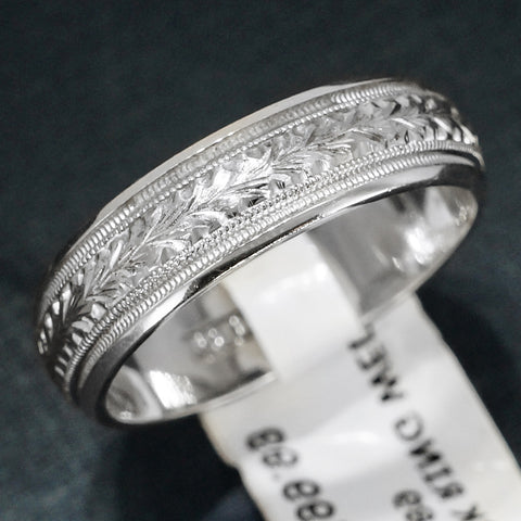 Tacori 18K White Gold Men's Wedding Band - Style G089MEW