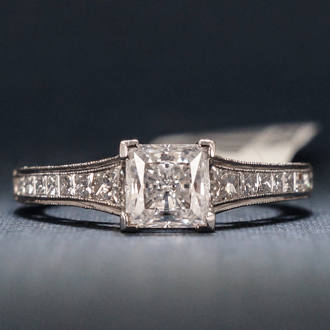 Tacori White Gold Engagement Ring with Diamonds - Style HT2510PR