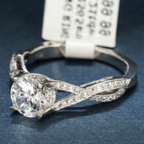 Tacori 18K White Gold Engagement Ring with Diamonds - Style 2565