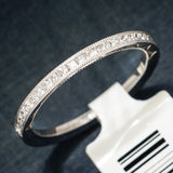 Tacori 18K White Gold Ladies Wedding Band with Diamonds - Style 45-1.5w