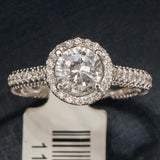 Verragio 18K White Gold Engagement Ring with Diamonds – Style Insignia 7061R
