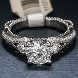 Verragio 18K White Gold Engagement Ring with Diamonds – Style Venetian AFN 5021R-4