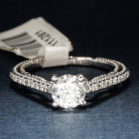 Verragio 18K White Gold Engagement Ring with Diamonds  – Style Insignia 7059