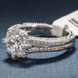 Verragio 18K White Gold Engagement Ring with Diamonds – Style Venetian AFN 5030