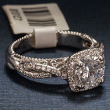 Verragio 18K White Gold Engagement Ring with Diamonds - Stunning - Style AFN 5050CU