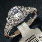 Verragio 14K White Gold and Diamond Engagement Ring with Red Gold Accents – Style D117R-0