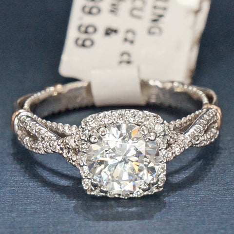 Verragio 14K White Gold Diamond Engagement Ring with 14K Red Gold Accents - Style D106CU