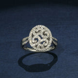 Stunning Openwork Diamond Filigree Cocktail Ring - Right Hand Ring
