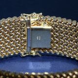 Vintage Woven Gold Mesh Bracelet in 14K Yellow Gold