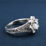 Gabriel & Co Empire Halo ER8839w44jj - Engagement Ring - Right Hand Ring - 14KW