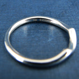 Gabriel & Co 14K White Gold Curved Wedding Band - Anniversary Band