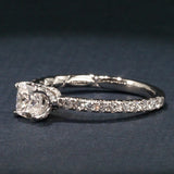 A Jaffe Engagement Ring-Art Deco Collection-Cushion Cut Center-Jaffe ME1851Q