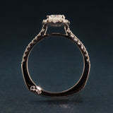 A Jaffe Engagement Ring-Metropolitan Collection- Cushion Cut Center- MES577
