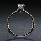Gorgeous A Jaffe Engagement Ring- Classics Collection- A Jaffe ME1865Q- .75ct
