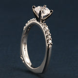 A Jaffe Engagement Ring- Classics Collection- A Jaffe Style MES078- 1.0ct center