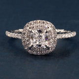 A Jaffe Double Halo Engagement Ring ME2174Q for 1ct Cushion cut