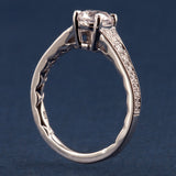 A Jaffe Modern Vintage Engagement Ring Style ME2102Q Art Deco Collection