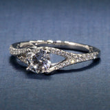 A Jaffe Pave Set Split Shank Engagement Ring ME2158Q for .75ct Round -Seasons of Love Collection-