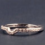 A Jaffe Contoured Diamond Wedding Band /Diamond Anniversary Band Style MRS638