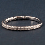 A Jaffe Diamond Wedding Band/ Anniversary Band- A Jaffe Style MR1865Q - .34cttw