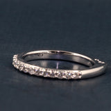 A Jaffe Signature Eleven Diamond Shared Prong Band Style MRS078 .26CTTW