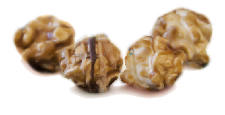 Buckeye Bits - Caramel with Peanut Butter and Chocolate Popcorn