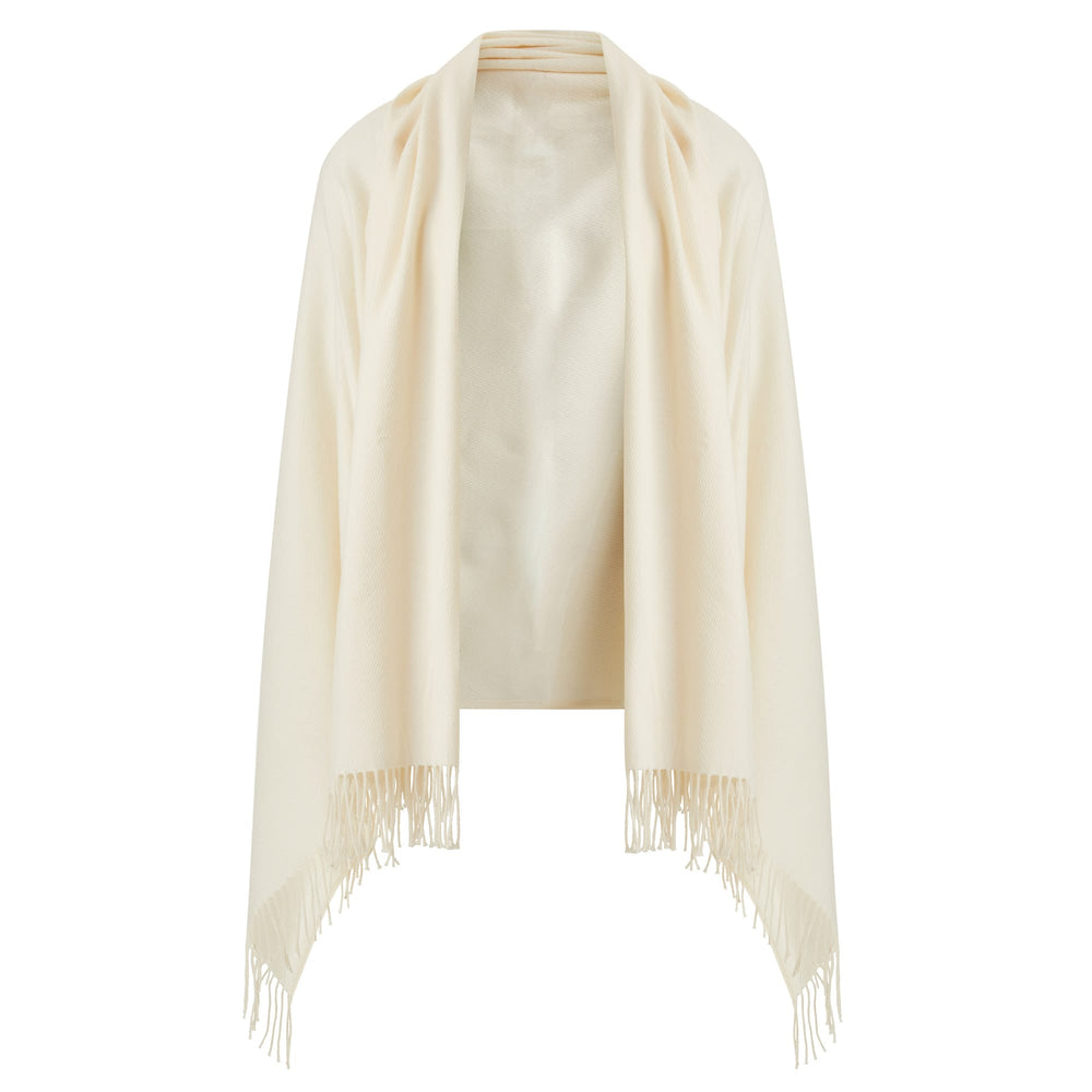 White Jeffery Wool Cashmere Throw
