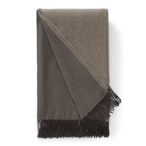 Grey Jeffery Wool Cashmere Throw