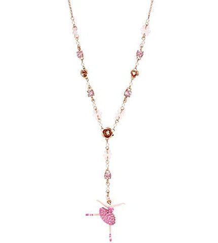 Betsey Johnson Ballerina Rose Dancer Y Necklace