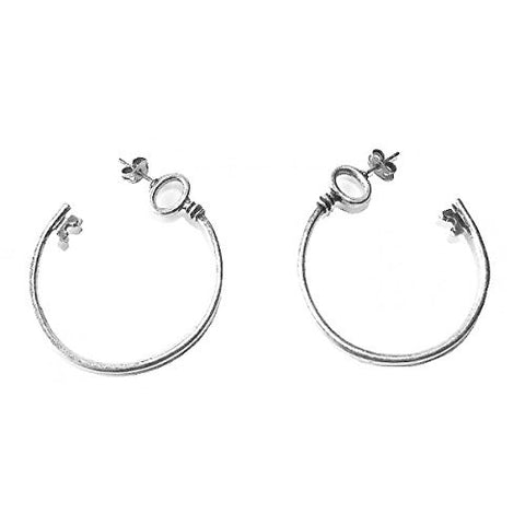 Disney by Couture Kingdom Alice in Wonderland Key Hoop Earrings