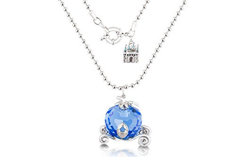 Disney Couture Icon Cinderella Crystal Carriage Necklace