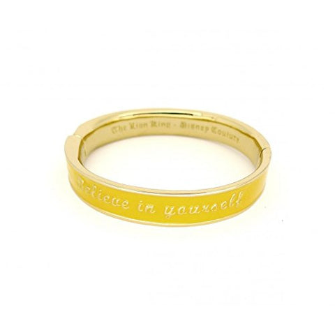 Disney Couture The Lion King Believe in Yourself Bangle Bracelet - Yellow