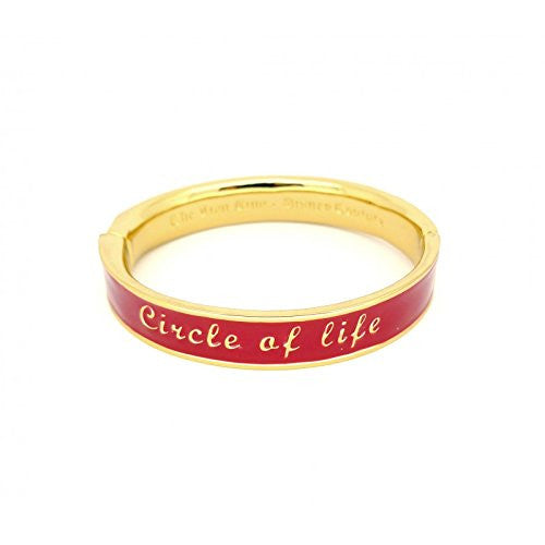 Disney Couture The Lion King Circle of Life Bangle Bracelet - Red