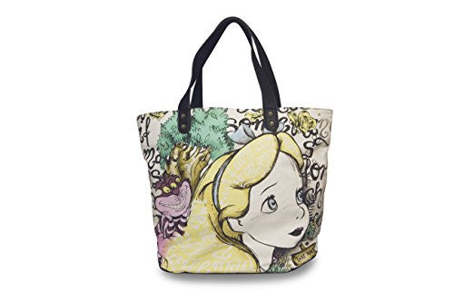 Loungefly Alice in Wonderland and Cheshire Canvas Tote Bag