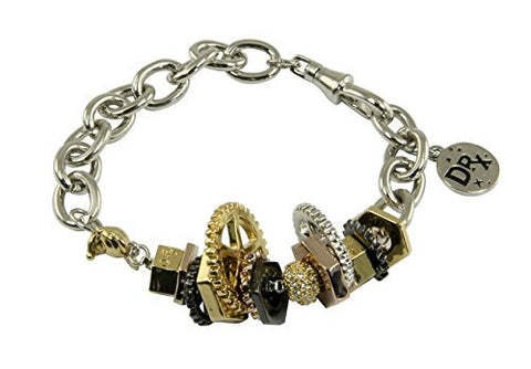 Disney Couture Dr. X Romanelli Mickey Bolts and Gears Bracelet