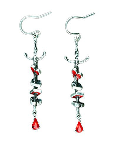 Disney by Couture Kingdom Alice in Wonderland Queen of Hearts Sword Earrings