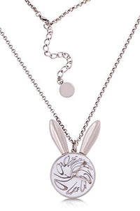 Disney by Couture Kingdom Alice in Wonderland White Rabbit Watch Necklace