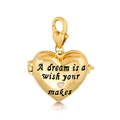 Disney by Couture Kingdom Cinderella Heart Locket Charm