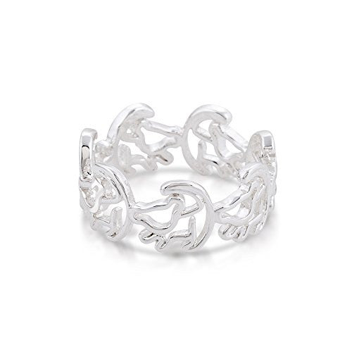 Disney Couture The Lion King Simba Outline Ring - White Gold Plated