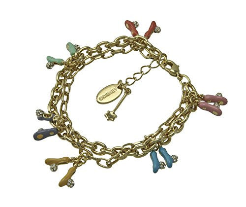 Disney by Couture Kingdom Tinker Bell Crystal Slippers Charm Bracelet