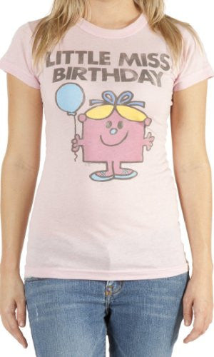 Junk Food Womens Little Miss Birthday T-shirt