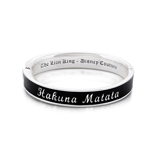 Disney by Couture Kingdom The Lion King Hakuna Matata Black Bangle Bracelet
