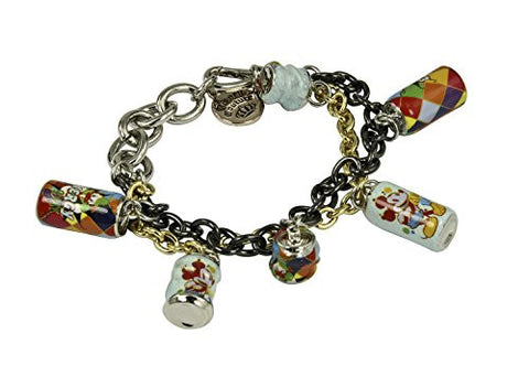 Disney Couture Dr. Rx Romanelli Mickey Mouse Mixed Chain Soda Can Bracelet