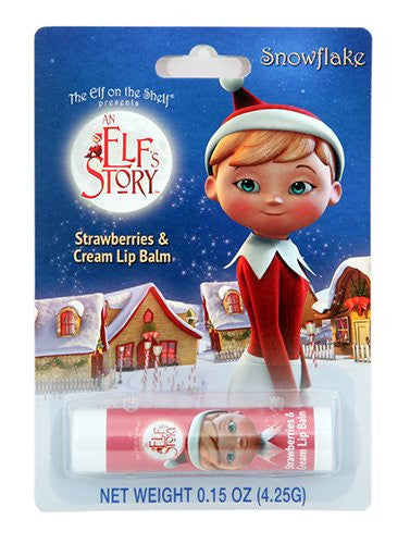 Elf on the Shelf Snowflake Strawberries & Cream Lip Balm
