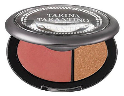 Tarina Tarantino Dollskin Cream Blush and Pressed Sparklicity Duo Coral Cameo